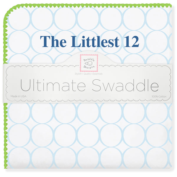 Ultimate Swaddle Blanket - Cotton Flannel - The Littlest 12 Seahawks