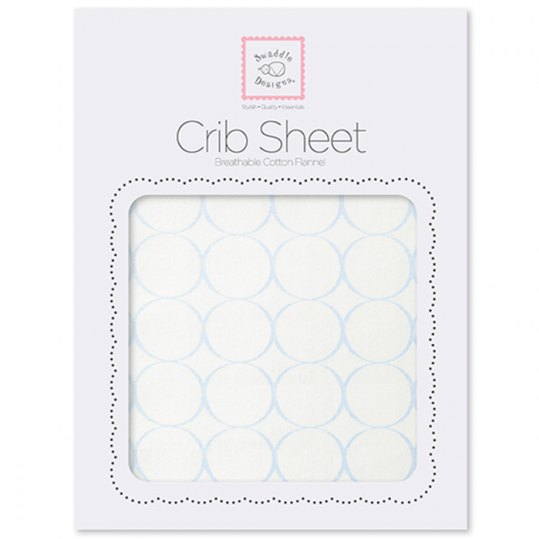 Organic Crib Sheet - Mod Circles on Ivory