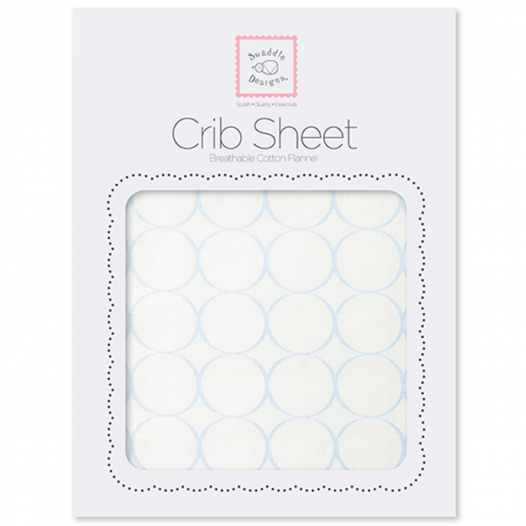 Organic Crib Sheet Mod Circles On Ivory Swaddledesigns