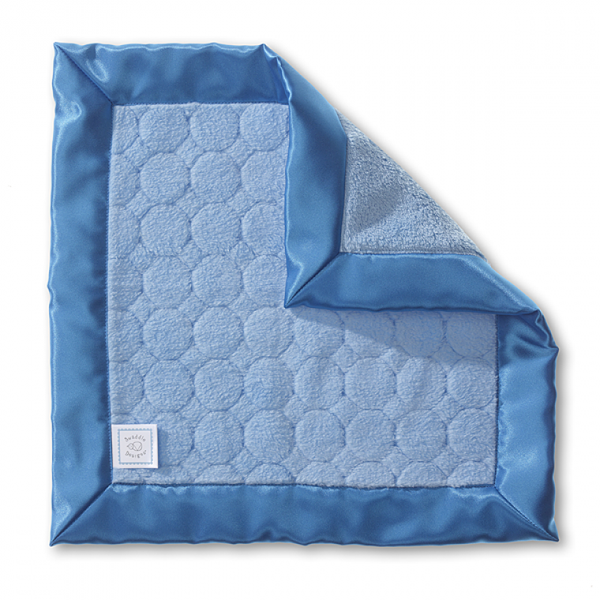 Cozy Baby Lovie - Puff Circles, Blue