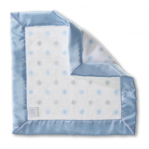 Cozy Baby Lovie - Sterling Dots with Pastel, Pastel Blue