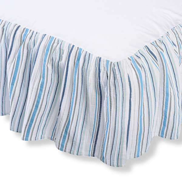 Crib Skirt - Jewel Tone Stripes