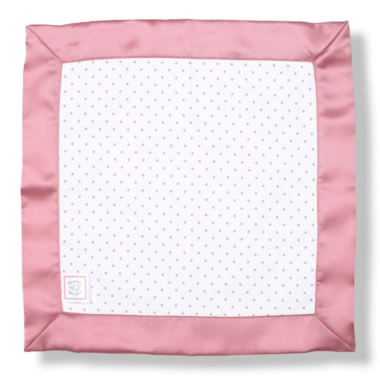 Cotton Baby Lovie - Polka Dots, Pink - Customized