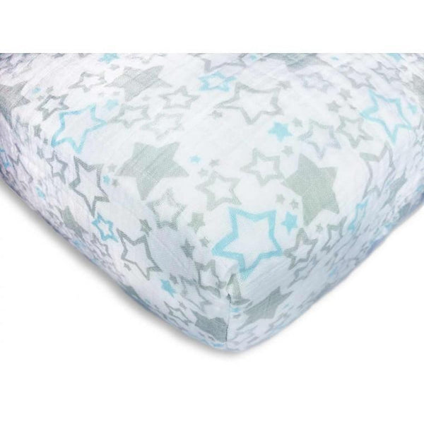 Muslin Fitted Crib Sheet - Starshine Shimmer