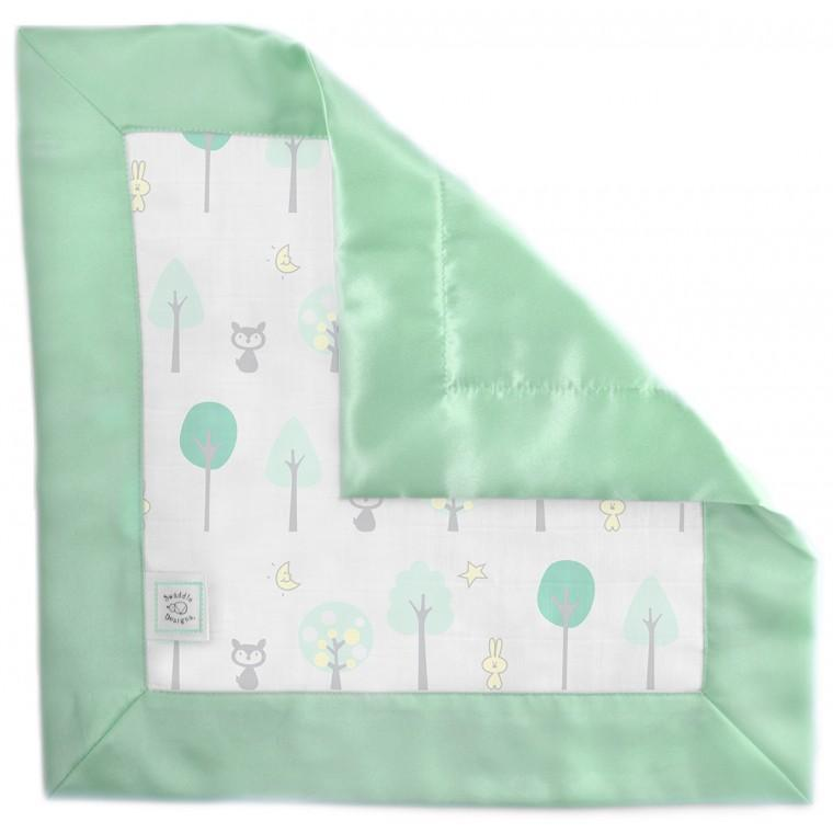 Muslin Single Baby Lovie - Green Woodland