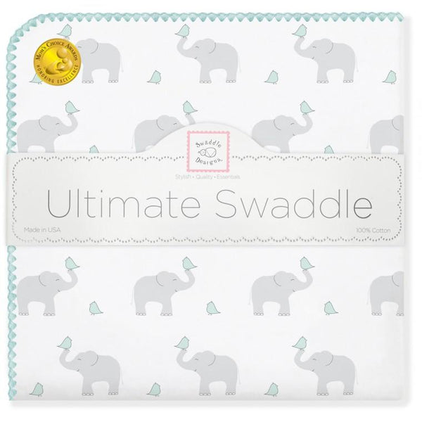 Ultimate Swaddle Blanket - Elephant & Chickies