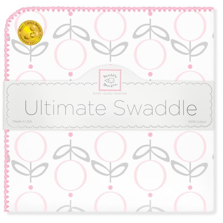 Ultimate Swaddle Blanket - Geo Floral, Pink - Customized