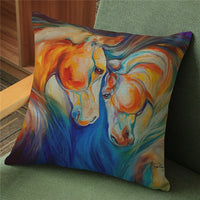 Horse Cushion Cover-Horse Palace-1-Horse Palace-fournitures-bedroom-setting-room-kitchen-horse-figures-statue