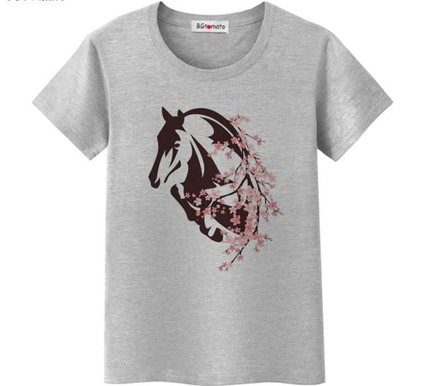 Active Woman Horse T-shirt-Horse Palace-Horse Palace-update alt-text with template horse-education-supplements-training-riding-ebook-horse-dvd-guide-to-success-horseman-western-cowboy-cowgirl-stories-horse-safe-health-of-horse-breeding-horse-exercice-unicorn-stories