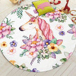 Unicorn Mat Floor-Horse Palace-60cm diameter-Horse Palace-fournitures-bedroom-setting-room-kitchen-horse-figures-statue