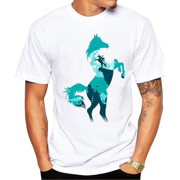 Rearing Horse T-Shirt-Horse Palace-Horse Palace-update alt-text with template horse-education-supplements-training-riding-ebook-horse-dvd-guide-to-success-horseman-western-cowboy-cowgirl-stories-horse-safe-health-of-horse-breeding-horse-exercice-unicorn-stories