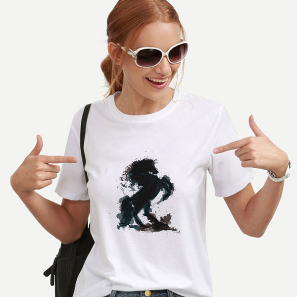 Rear Horse T-Shirt women-Horse Palace-Horse Palace-update alt-text with template horse-education-supplements-training-riding-ebook-horse-dvd-guide-to-success-horseman-western-cowboy-cowgirl-stories-horse-safe-health-of-horse-breeding-horse-exercice-unicorn-stories