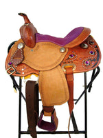 12 13 Tooled Barrel Purple Youth Kids Western Trail Saddle-Horse Palace-Horse Palace-update alt-text with template horse-education-supplements-training-riding-ebook-horse-dvd-guide-to-success-horseman-western-cowboy-cowgirl-stories-horse-safe-health-of-horse-breeding-horse-exercice-unicorn-stories