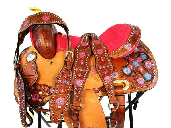 12 13 Show Pink Trail Kids Youth Western Pony Saddle Tack Set-Horse Palace-12-Horse Palace-update alt-text with template horse-education-supplements-training-riding-ebook-horse-dvd-guide-to-success-horseman-western-cowboy-cowgirl-stories-horse-safe-health-of-horse-breeding-horse-exercice-unicorn-stories