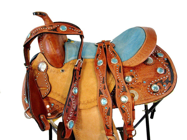 12 13 Turquoise Blue Pony Barrel Leather Youth Kids Western Saddle-Horse Palace-Horse Palace-update alt-text with template horse-education-supplements-training-riding-ebook-horse-dvd-guide-to-success-horseman-western-cowboy-cowgirl-stories-horse-safe-health-of-horse-breeding-horse-exercice-unicorn-stories
