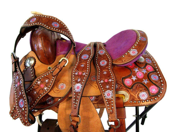 12 13 Pony Saddle Pink Purple Tooled Leather Western Horse-Horse Palace-12-Horse Palace-update alt-text with template horse-education-supplements-training-riding-ebook-horse-dvd-guide-to-success-horseman-western-cowboy-cowgirl-stories-horse-safe-health-of-horse-breeding-horse-exercice-unicorn-stories
