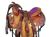 12 13 Tooled Barrel Purple Youth Kids Western Trail Saddle-Horse Palace-2-Horse Palace-update alt-text with template horse-education-supplements-training-riding-ebook-horse-dvd-guide-to-success-horseman-western-cowboy-cowgirl-stories-horse-safe-health-of-horse-breeding-horse-exercice-unicorn-stories