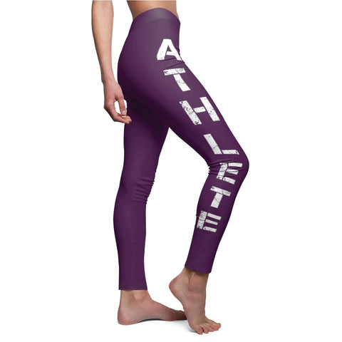 Bullstrong Athlete Women's Casual Leggings- Purple