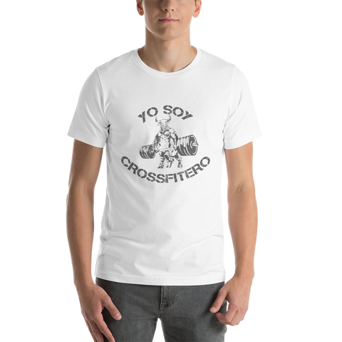 Yo Soy Crossfitero / Bulls Coming At You - Short-Sleeve Unisex T-Shirt (Grey Lettering)
