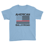 American Bullstrong - Thin Red Line - Youth Boy Short Sleeve T-Shirt