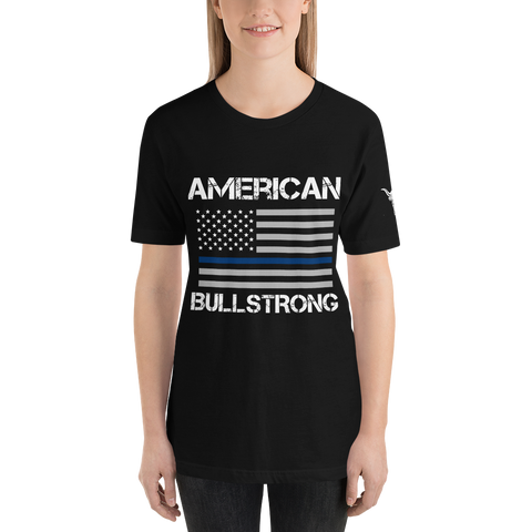 American Bullstrong - Thin Blue Line - Short-Sleeve T-Shirt