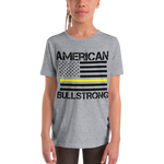 American Bullstrong - Thin Yellow Line - Youth Girl Short Sleeve T-Shirt
