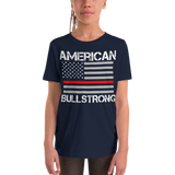 American Bullstrong - Thin Red Line - Youth Girl Short Sleeve T-Shirt