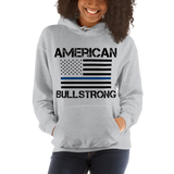 American Bullstrong - Thin Blue Line - Hooded Sweatshirt