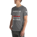 American Bullstrong - Thin Red Line - Short-Sleeve Unisex T-Shirt