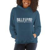 Bulls Coming At You - Hooded Sweatshirt (White Lettering)