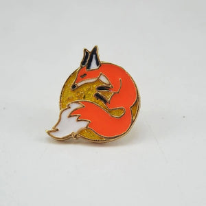 Moon Fox pin