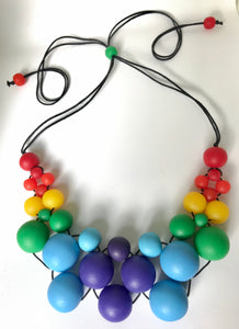 Rainbow bubble necklace
