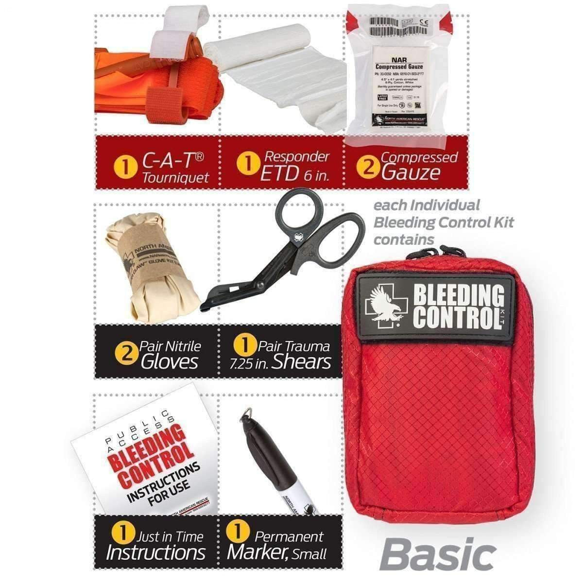 Public Access Bleeding Control 8 Pack - Nylon - MED-TAC International Corp..