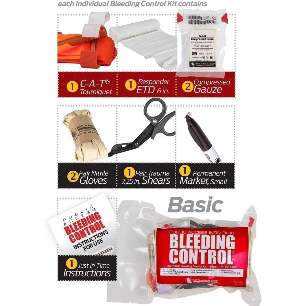 Public Access Bleeding Control 8 Pack - Vacuum Sealed - MED-TAC International Corp..