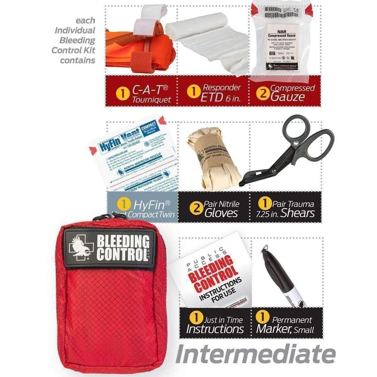 North American Rescue,Public Access Bleeding Control Kit - Nylon,medic-packs.