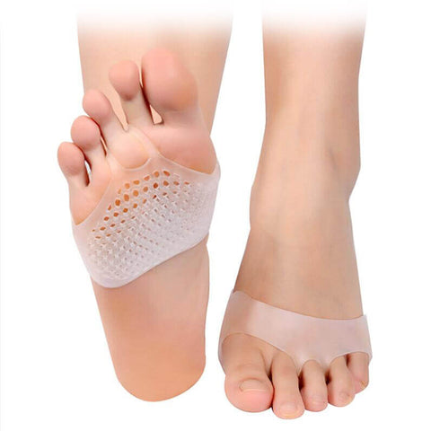 1 Pair Forefoot Silicone Pain Relief Insoles for Women