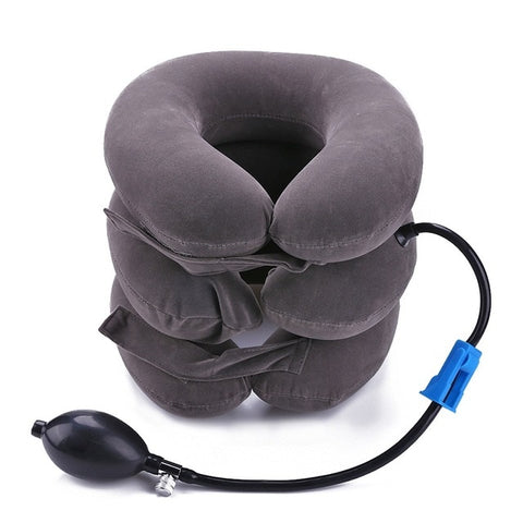 Portable Inflatable Adjustable Neck Traction Device & Pillow