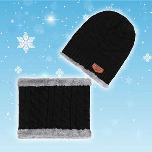 Winter Fleece Beanie Scarf Set