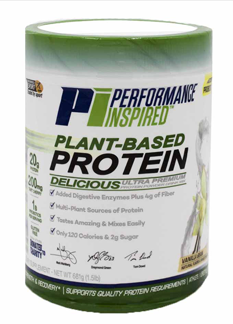 PERFORMANCE INSPIRED NUTRITION - Plant-Based Protein - Vanilla Bean 1.5 lb. 28.8 OZ