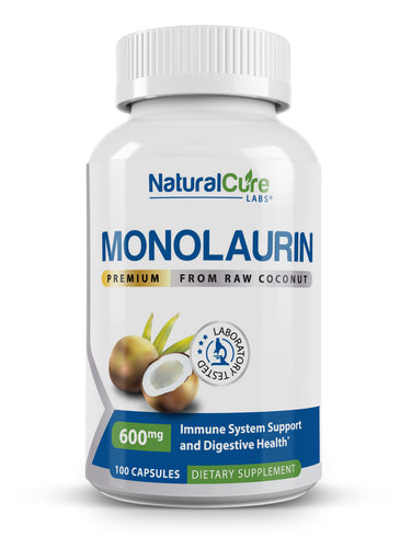 Natural Cure Labs - Premium Monolaurin - 600mg - 100 Capsules