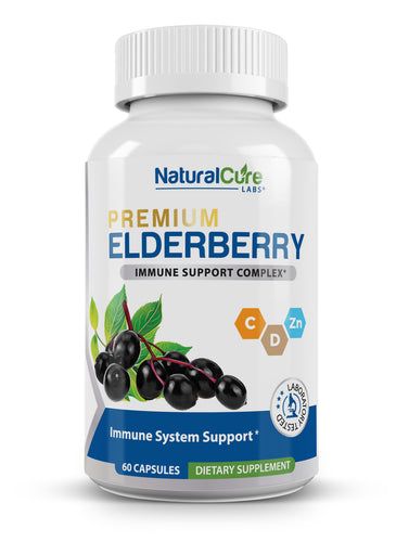 Natural Cure Labs - Elderberry Immune Support Complex - 60 Capsules