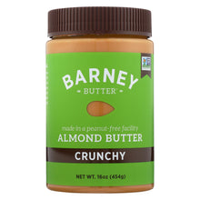 Load image into Gallery viewer, Barney Butter - Almond Butter - Crunchy - Case Of 6 - 16 Oz.
