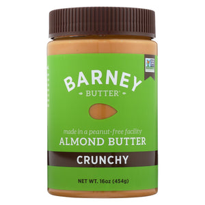 Barney Butter - Almond Butter - Crunchy - Case Of 6 - 16 Oz.