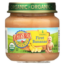 Load image into Gallery viewer, Earth's Best Organic First Bananas Baby Food - Stage 1 - Case Of 12 - 2.5 Oz.