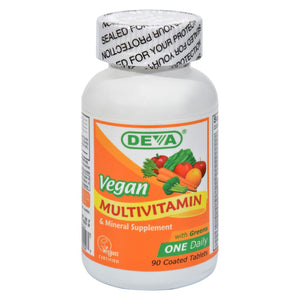 Deva Vegan Vitamins - Multivitamin And Mineral Supplement - 90 Coated Tablets
