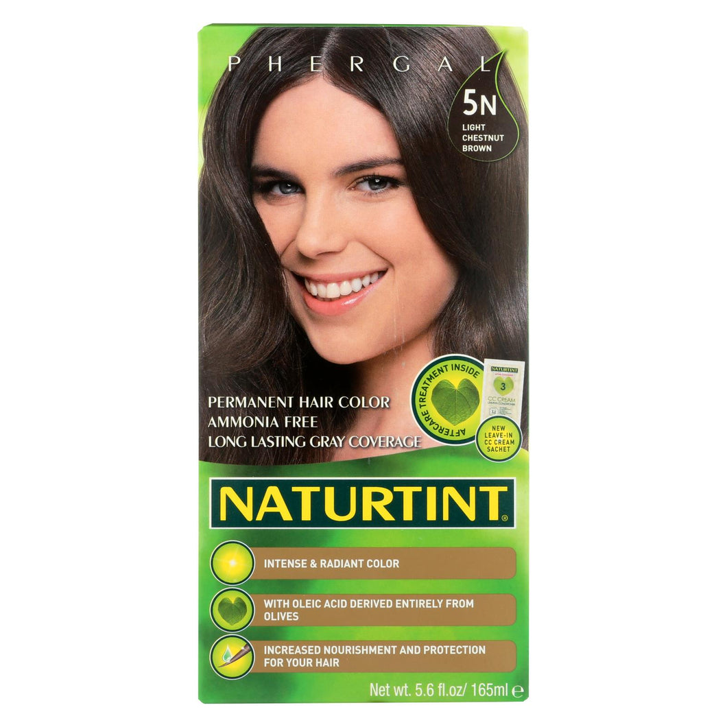 Naturtint Hair Color - Permanent - 5n - Light Chestnut Brown - 5.28 Oz
