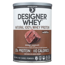 Load image into Gallery viewer, Designer Whey - Protein Powder - Chocolate - 12.7 Oz