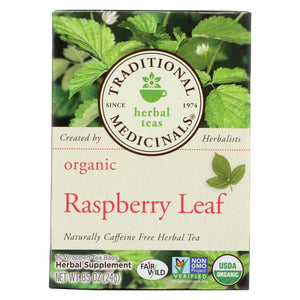 Traditional Medicinals Organic Raspberry Leaf Herbal Tea - 16 Tea Bags - Case Of 6