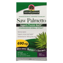 Load image into Gallery viewer, Nature's Answer - Saw Palmetto Berry Extract - 120 Vcaps