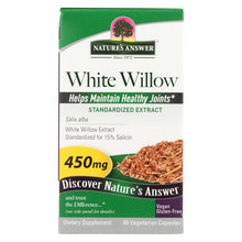 Load image into Gallery viewer, Nature's Answer - White Willow Bark Standardized - 60 Vcaps